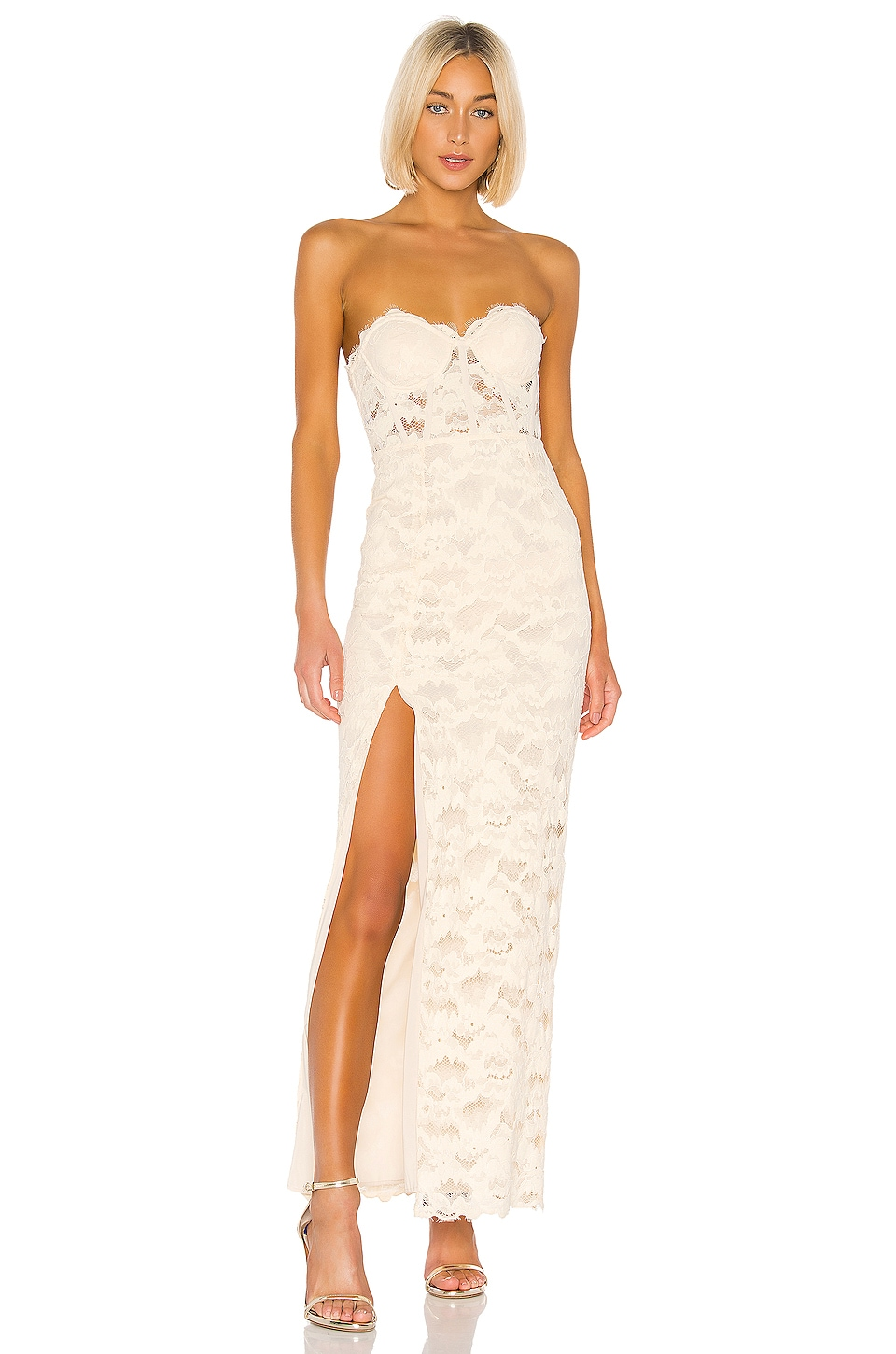 Lovers + Friends Ferraro Gown in Nude
