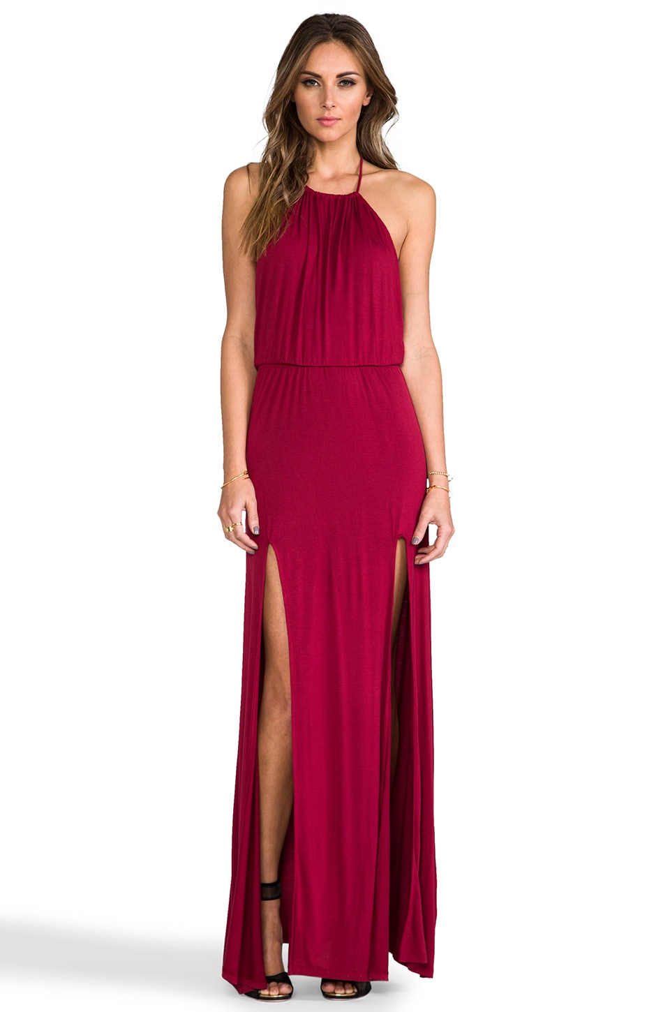 Lovers + Friends Smokin' Hot Maxi Dress in Scarlet