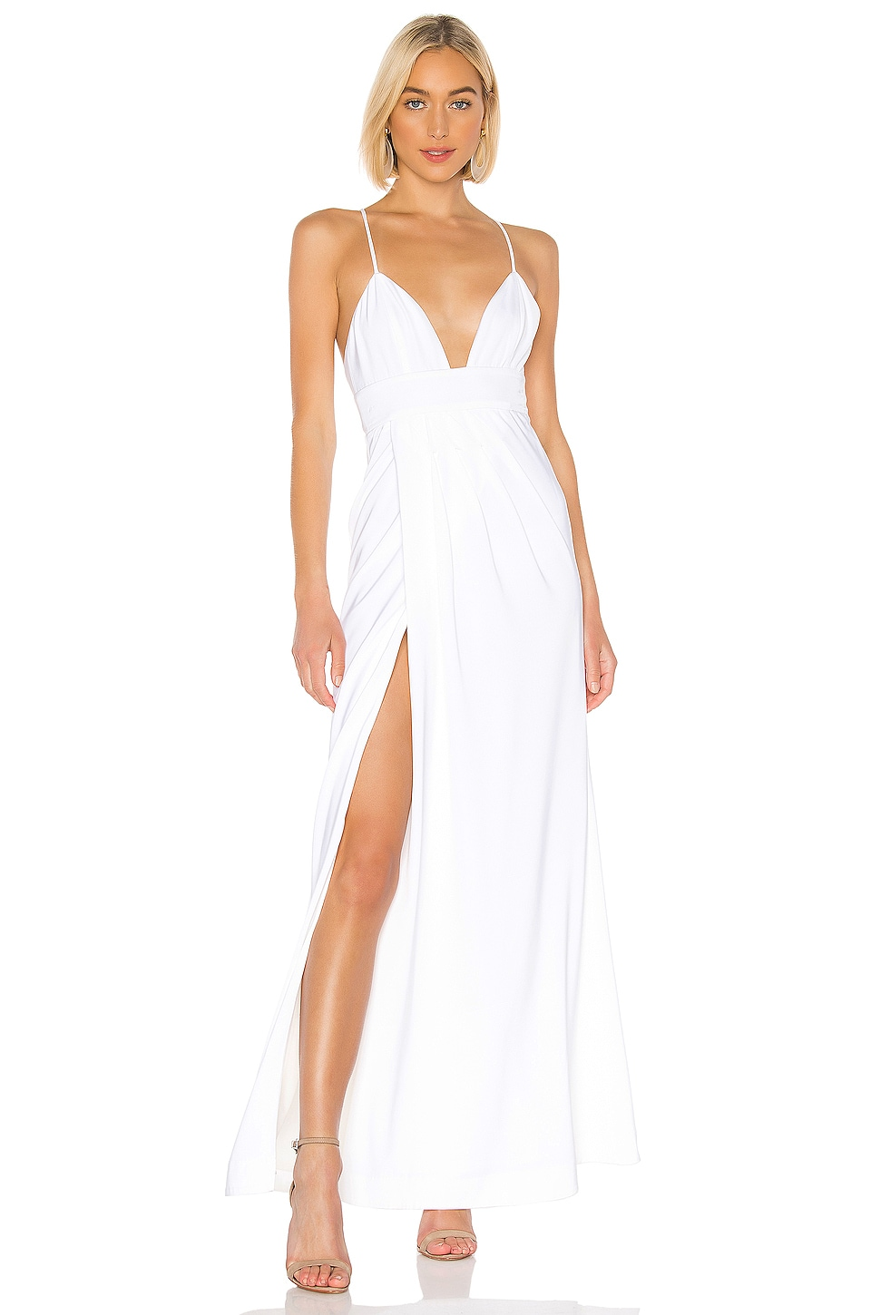 Lovers + Friends Anyssa Gown in White