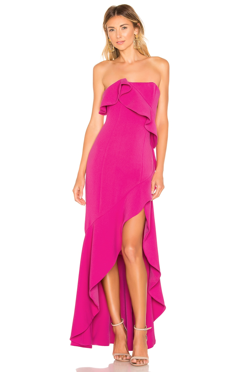 Lovers + Friends Tricia Gown in Pink