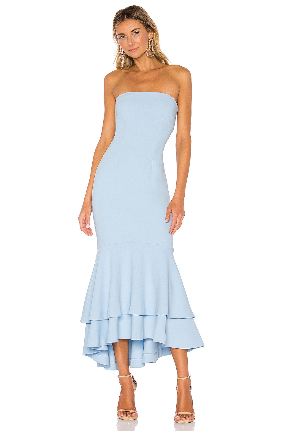 Lovers + Friends Dillion Midi in Baby Blue
