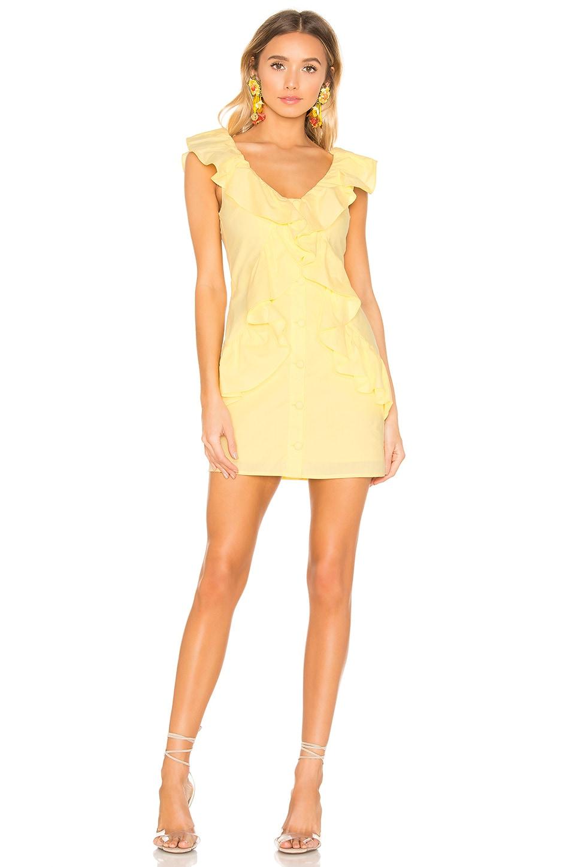 Lovers + Friends Raleigh Mini Dress in Lemon