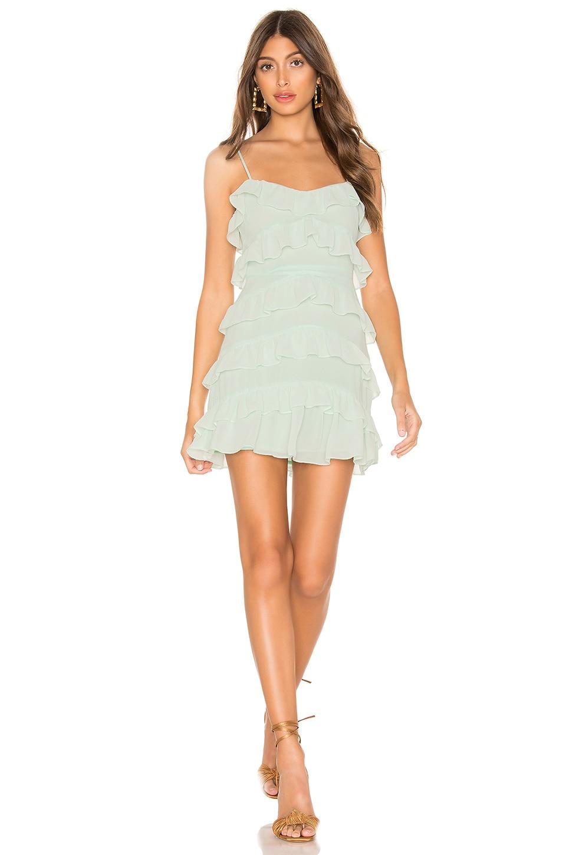 Lovers + Friends Cooper Mini Dress in Seafoam