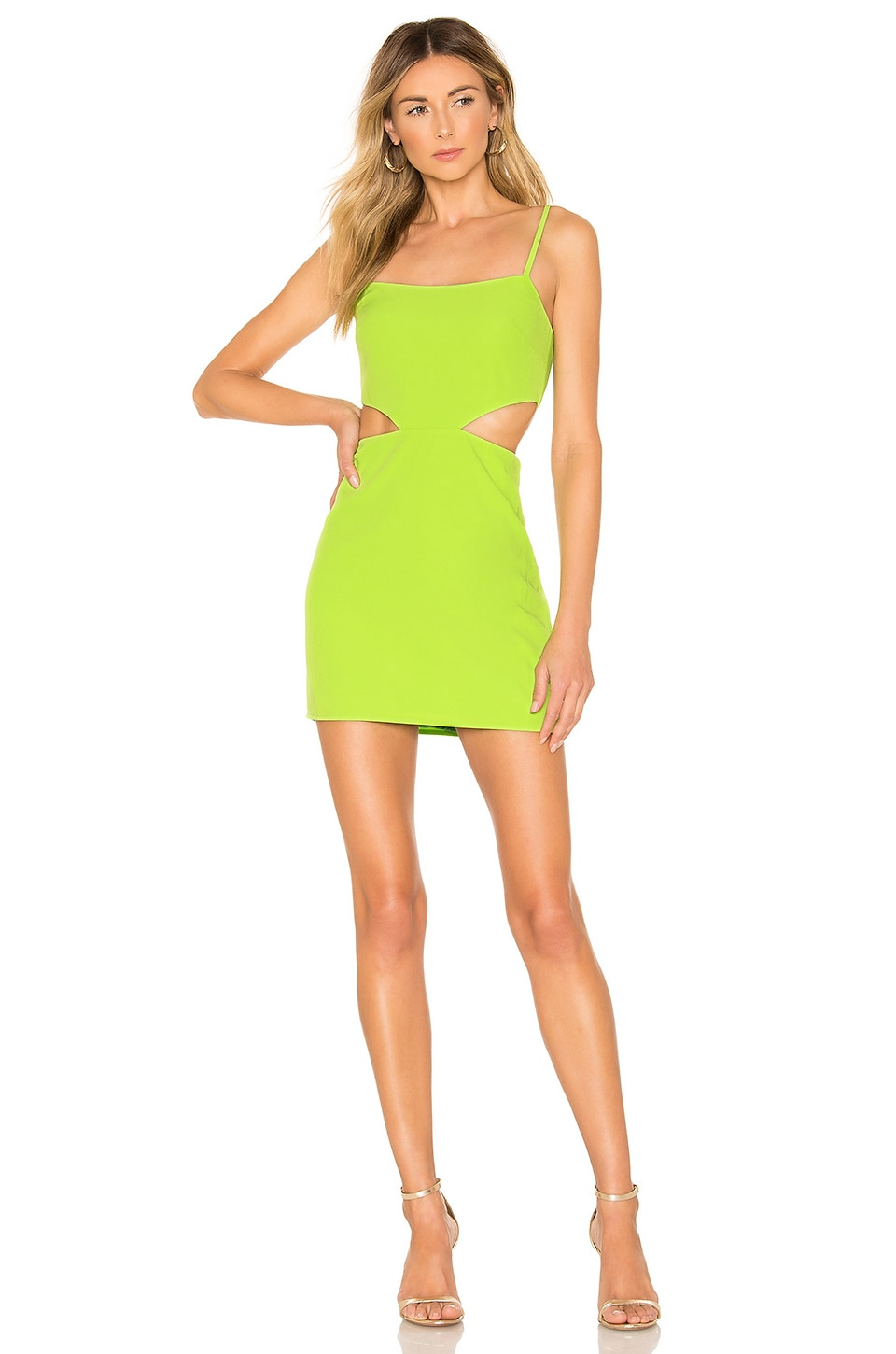 Lovers + Friends Brody Mini Dress in Lime