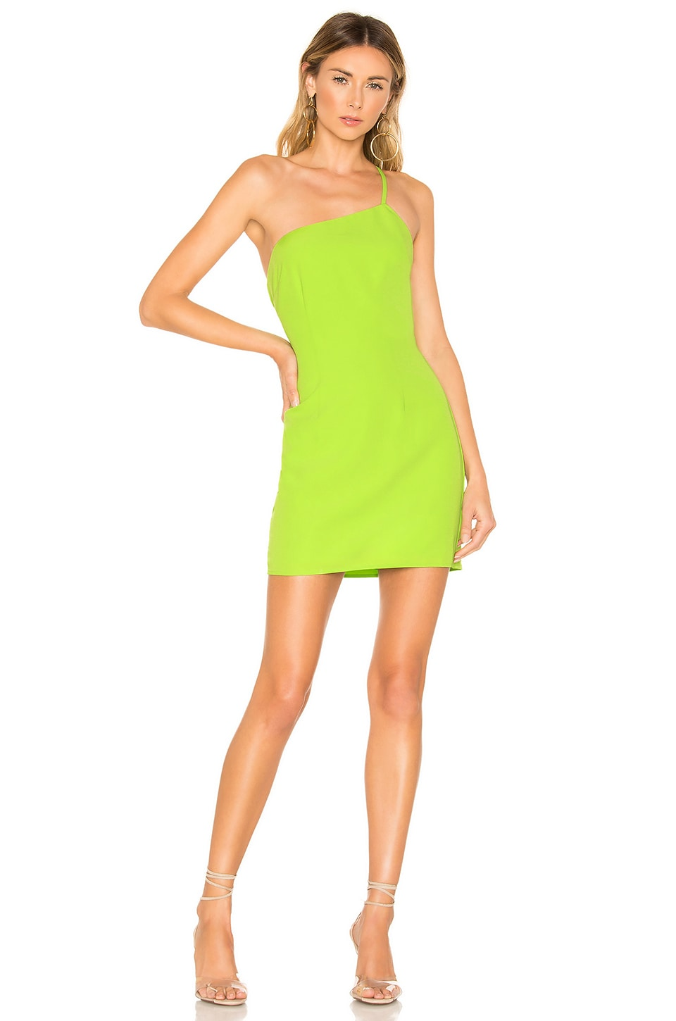 Lovers + Friends Rizelle Mini Dress in Lime