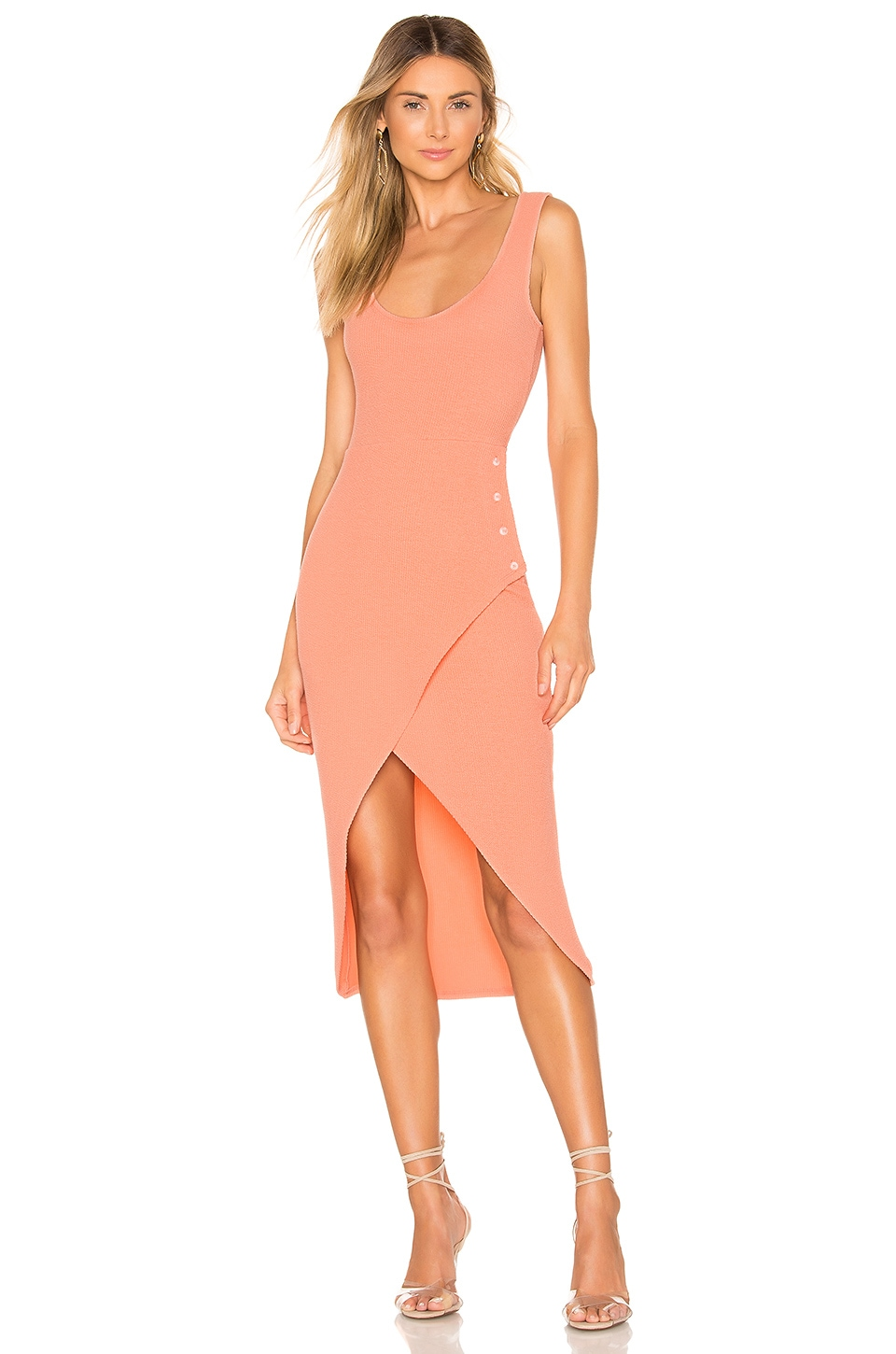 Lovers + Friends Macpherson Midi Dress in Peach