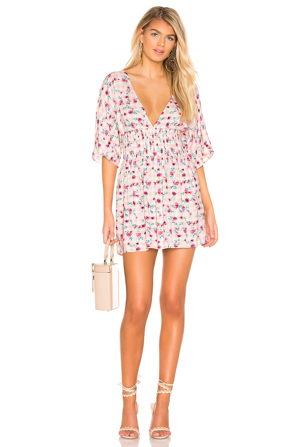 Lovers + Friends Cacia Dress in Gingham Floral
