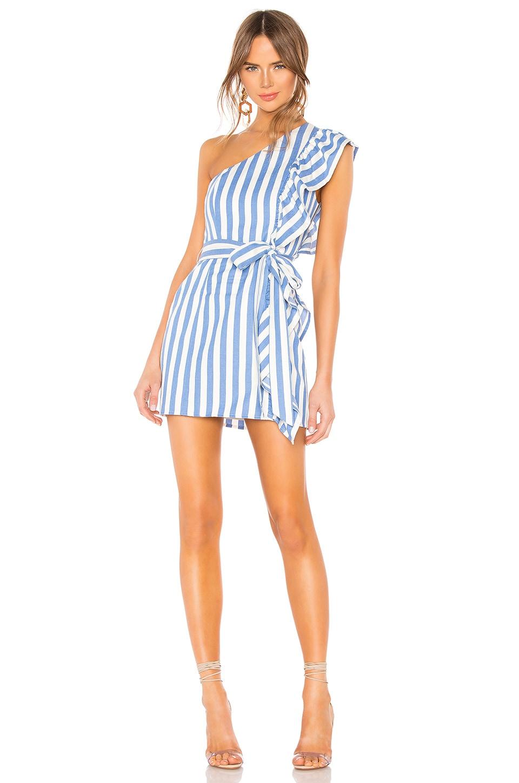 c48b054cf Lovers + Friends Seana Mini Dress in White & Blue | REVOLVE
