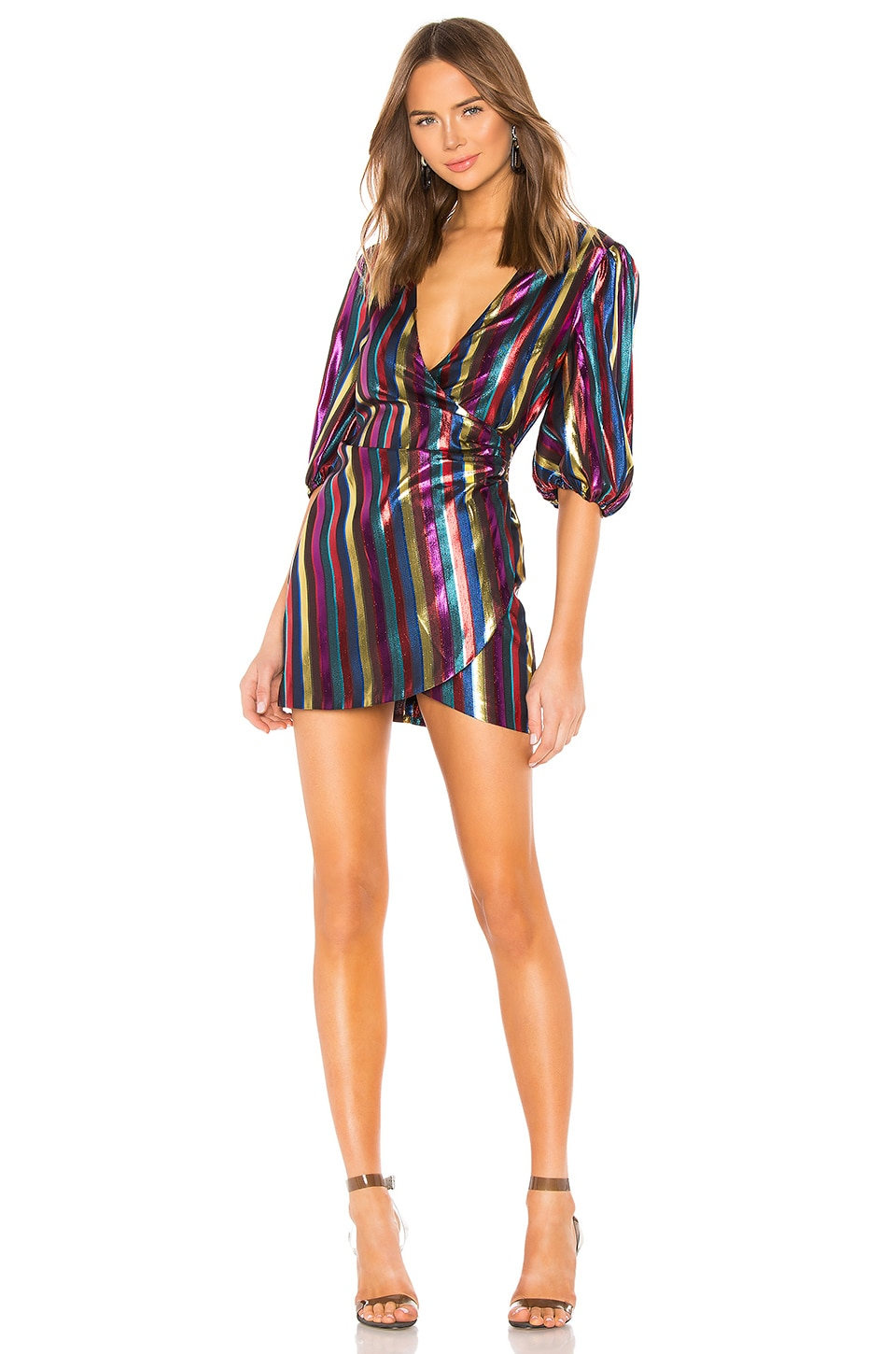 Lovers + Friends Frida Mini Dress in Rainbow