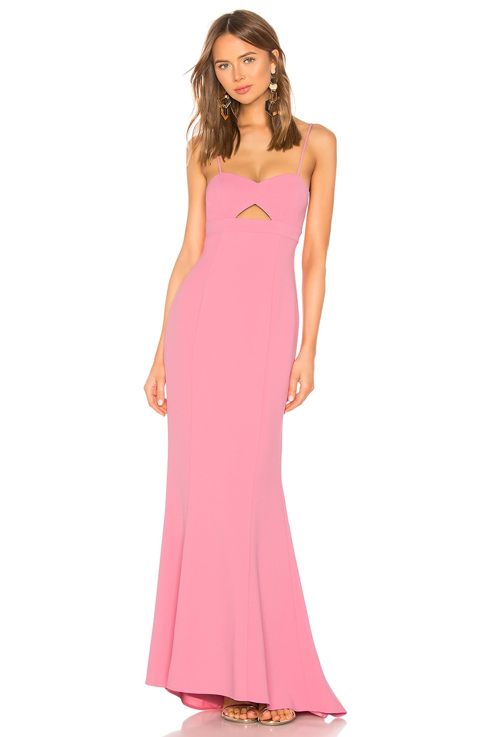 Lovers + Friends Bethany Gown in Pink