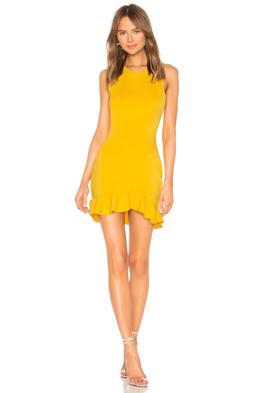 Lovers + Friends Monroe Mini Dress in Mustard Yellow