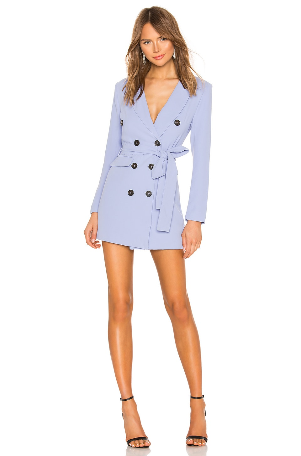 Lovers + Friends Diana Blazer Dress in Periwinkle