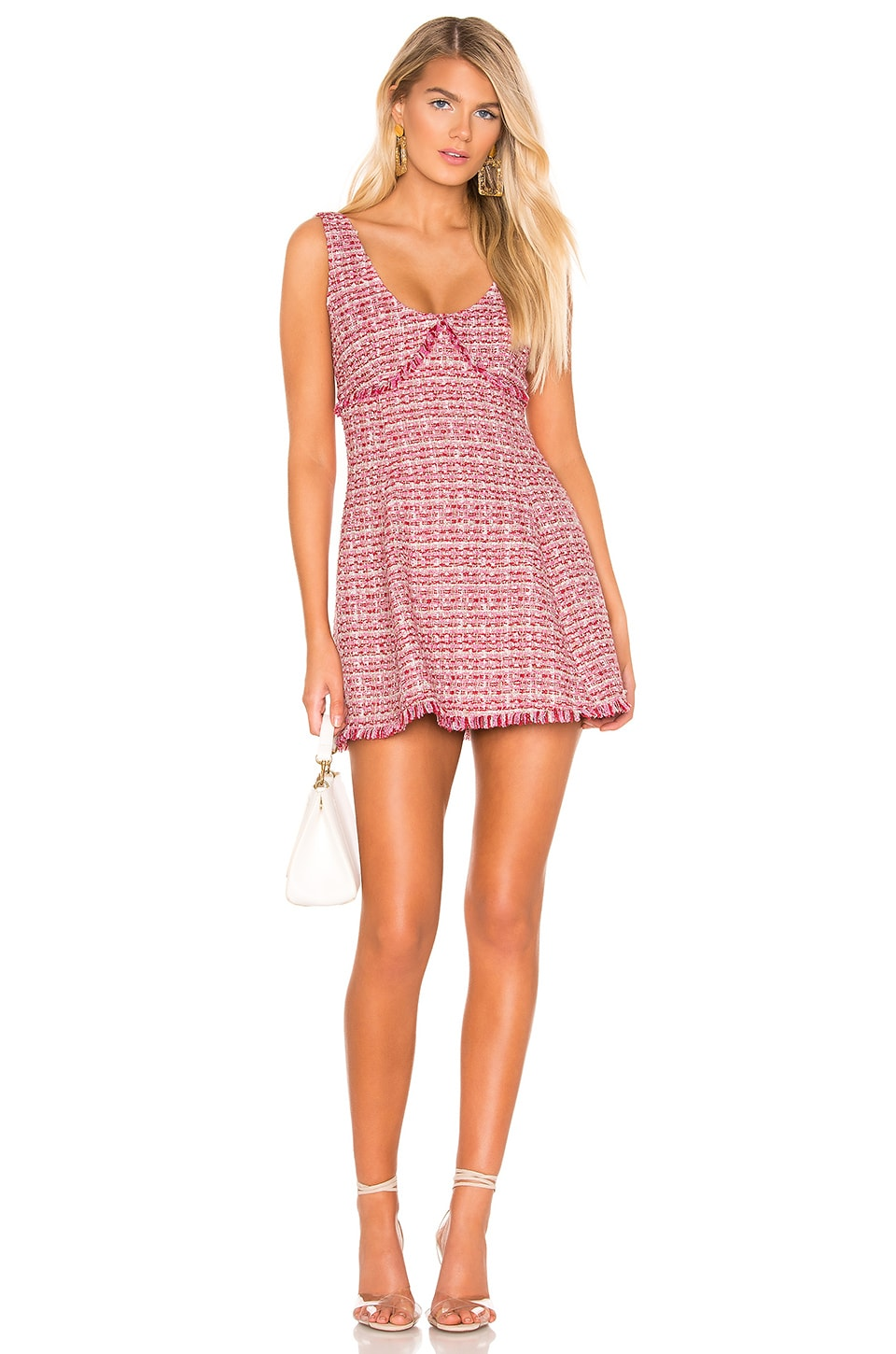 Lovers + Friends Keely Mini Dress in Valentine Red