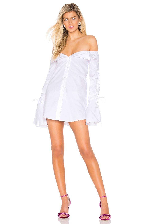 Lovers + Friends Legend Button Down Dress in White