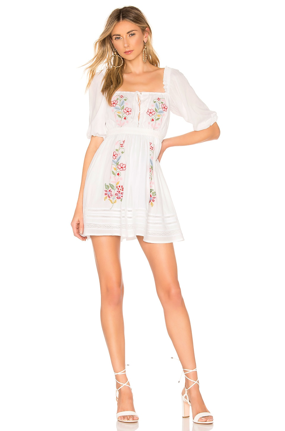 Lovers + Friends Thatcher Mini Dress in White