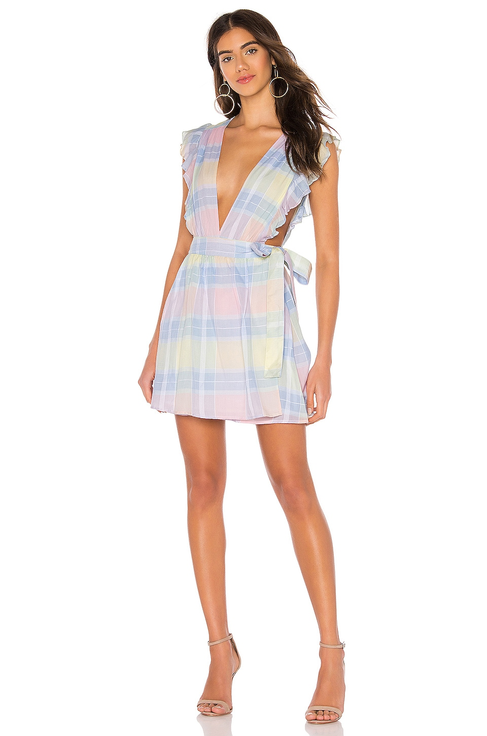 Lovers + Friends Clara Mini Dress in Pastel Rainbow