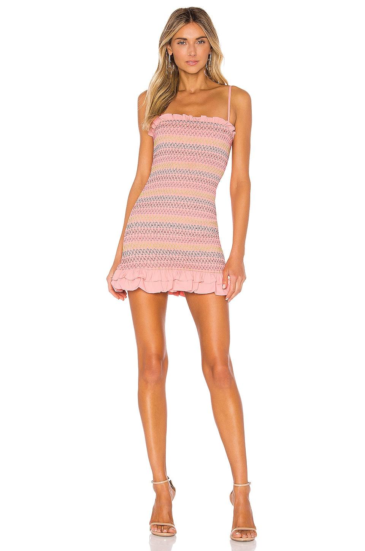 Lovers + Friends Sean Mini Dress in Pink Lemonade
