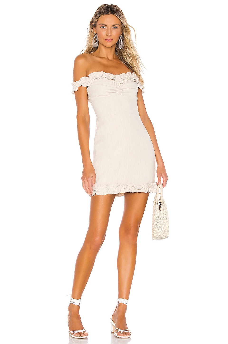 Lovers + Friends Lorraine Mini Dress in French Vanilla