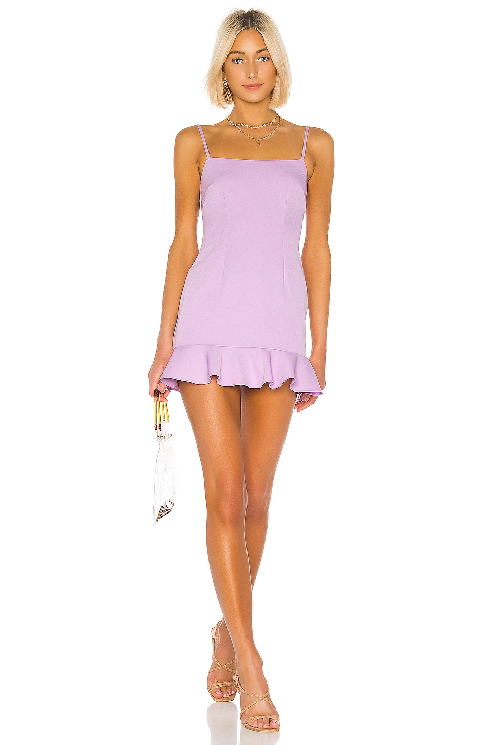 Lovers + Friends Teddy Mini Dress in Lilac Purple