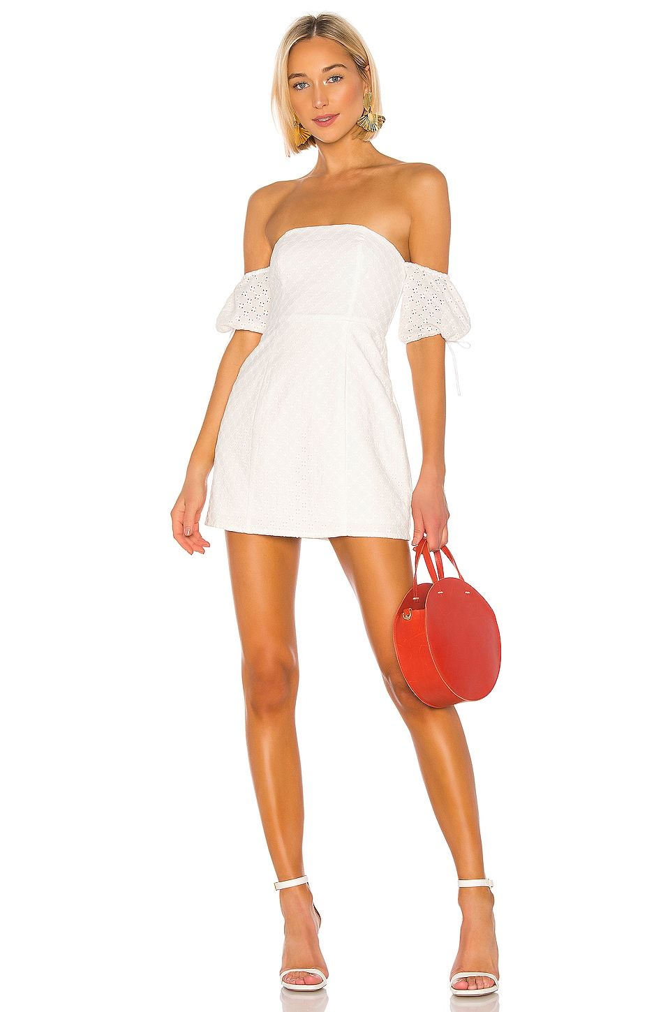 Lovers + Friends Allie Mini Dress in White
