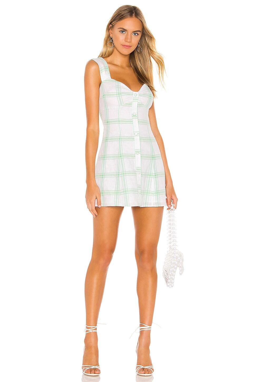 Lovers + Friends Jemma Mini Dress in Green Plaid