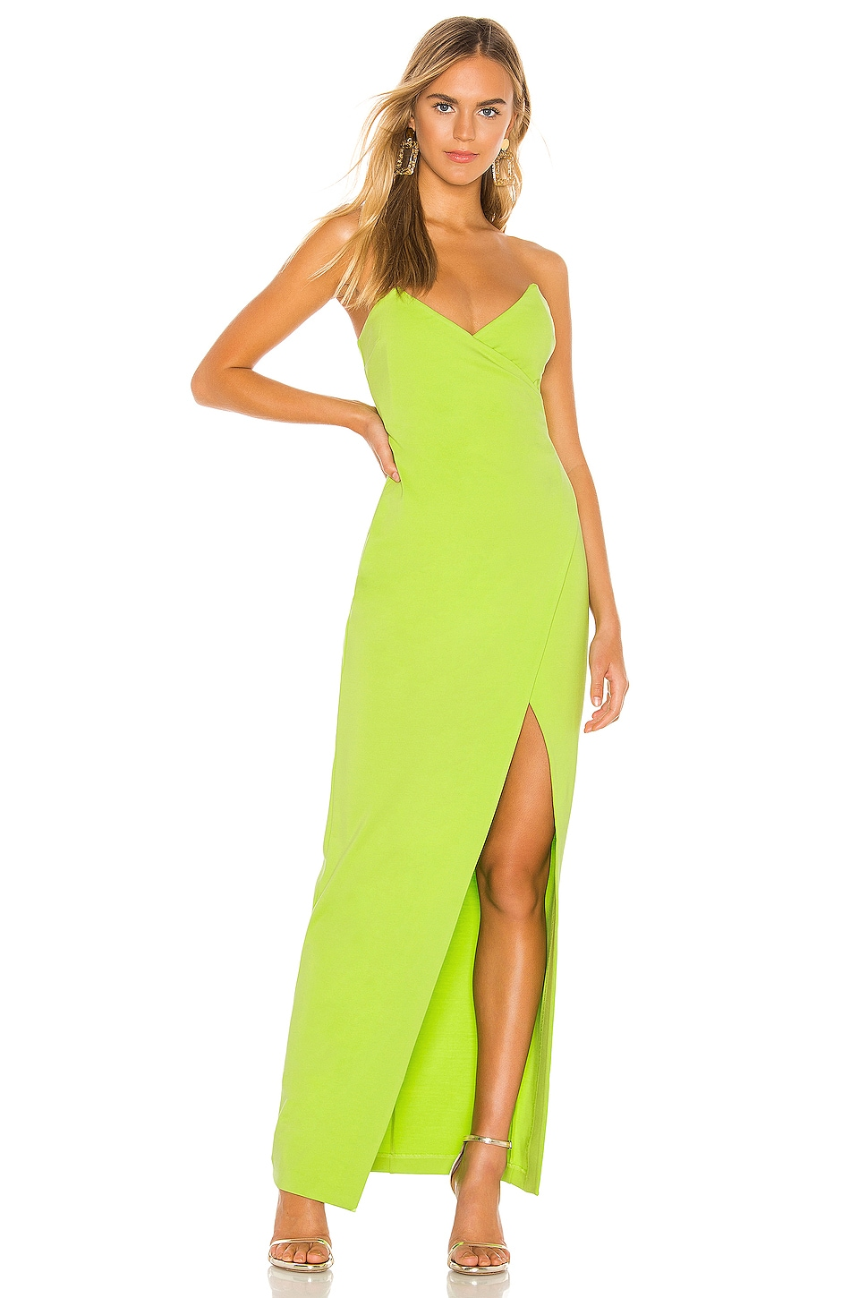 Lovers + Friends Max Gown in Oasis Green