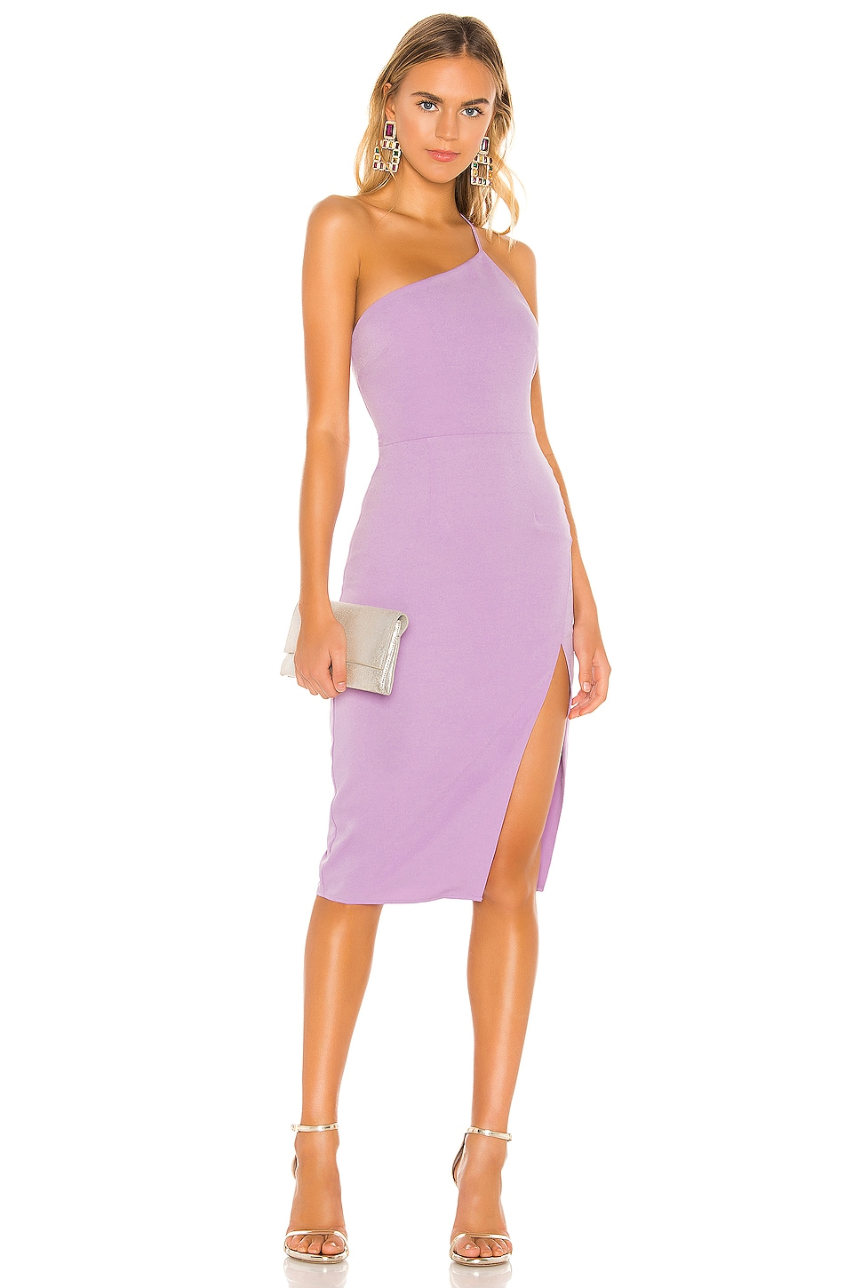 Lovers + Friends Lazo Midi Dress in Lilac Purple