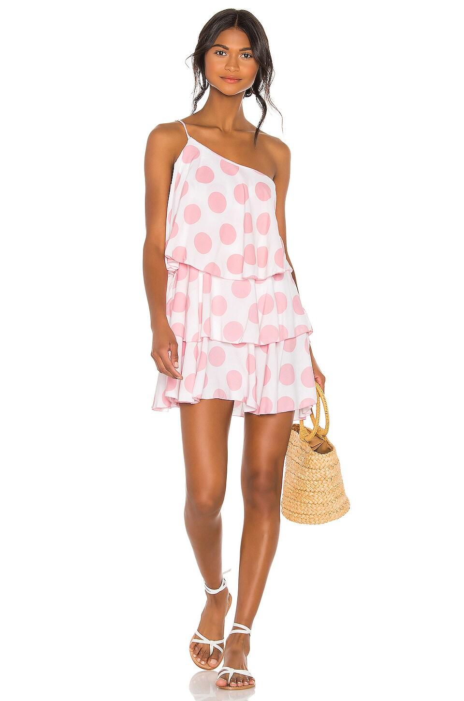 Lovers + Friends Getaway Dress in Pink Dot