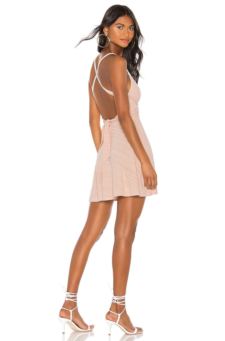 Lovers + Friends Ken Mini Dress in Shell Pink