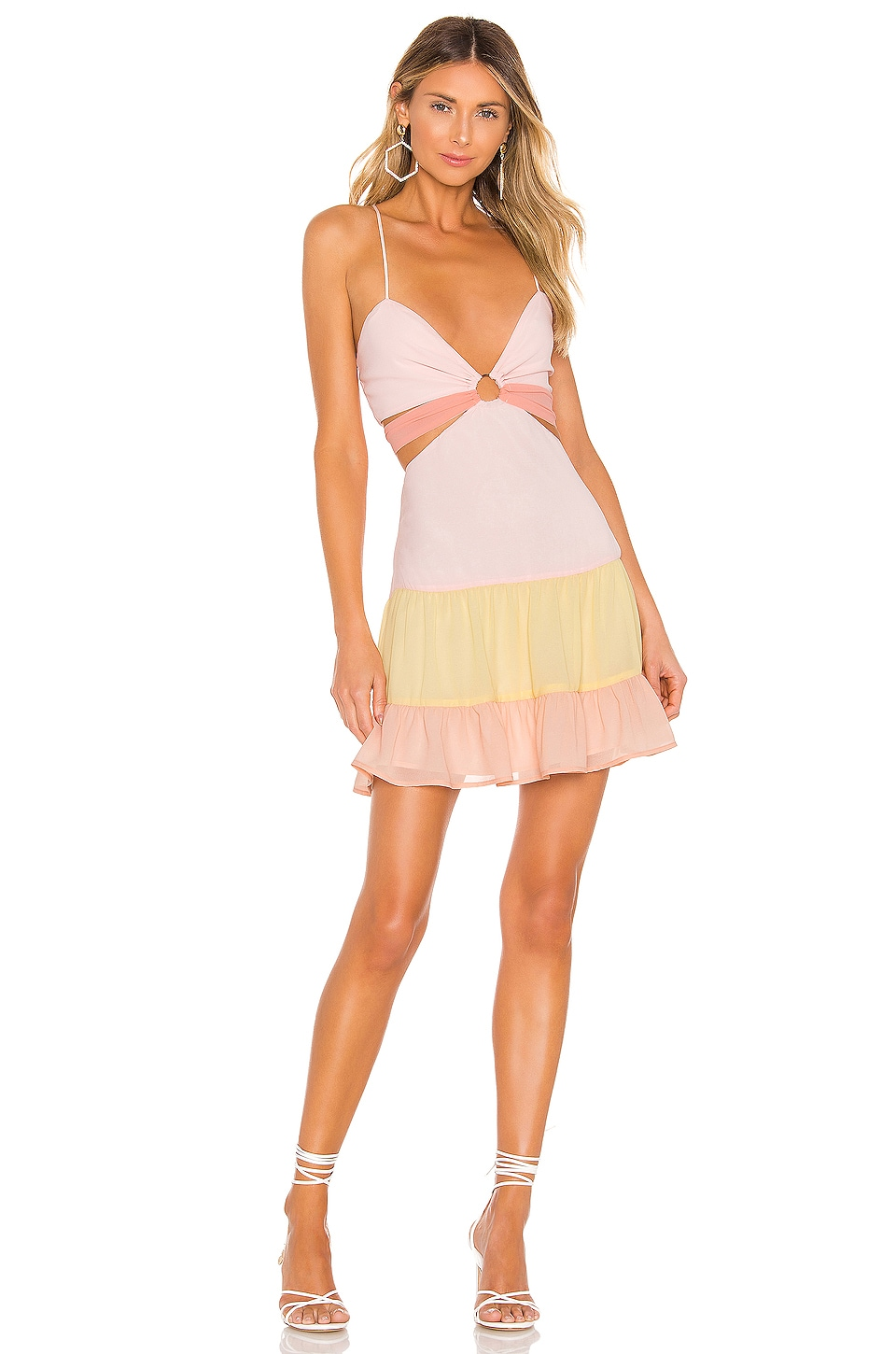Lovers + Friends Blair Mini Dress in Sherbet