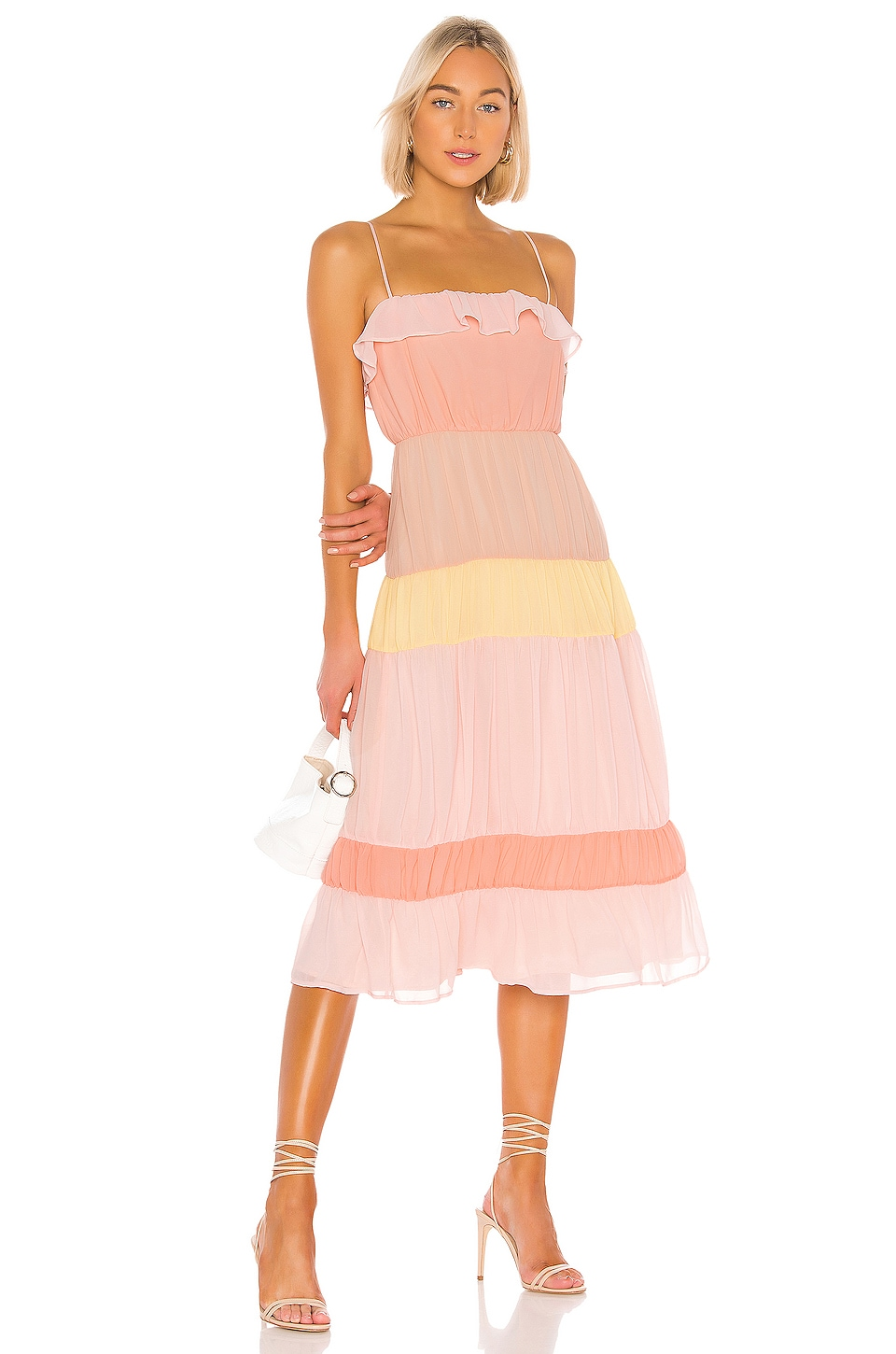 Lovers + Friends Acer Midi Dress in Sherbet