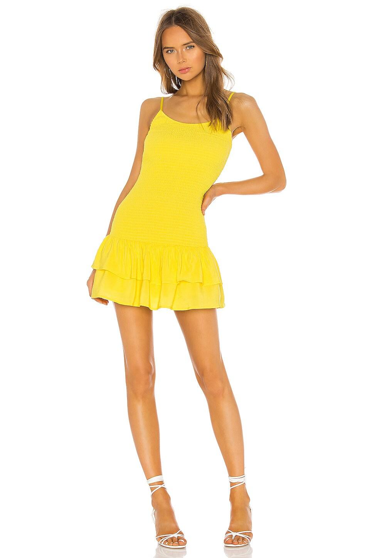 Lovers + Friends Alden Mini Dress in Neon Yellow