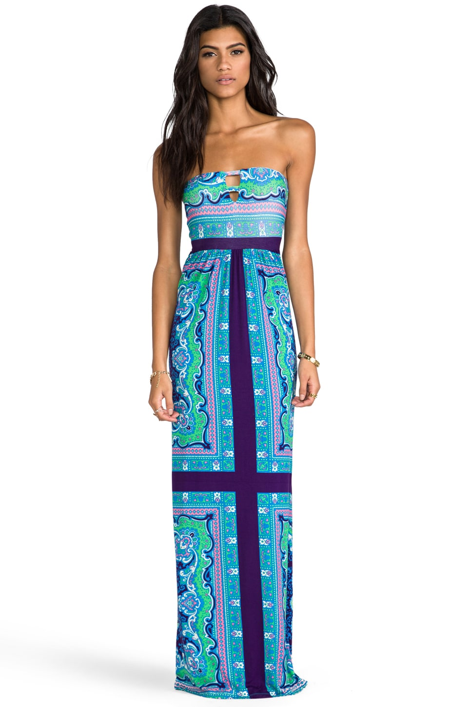 Lovers + Friends PS I Love You Dress in Scarf Print