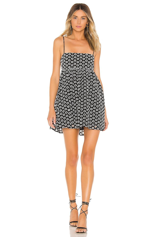 Lovers + Friends Davina Mini Dress in Black & White