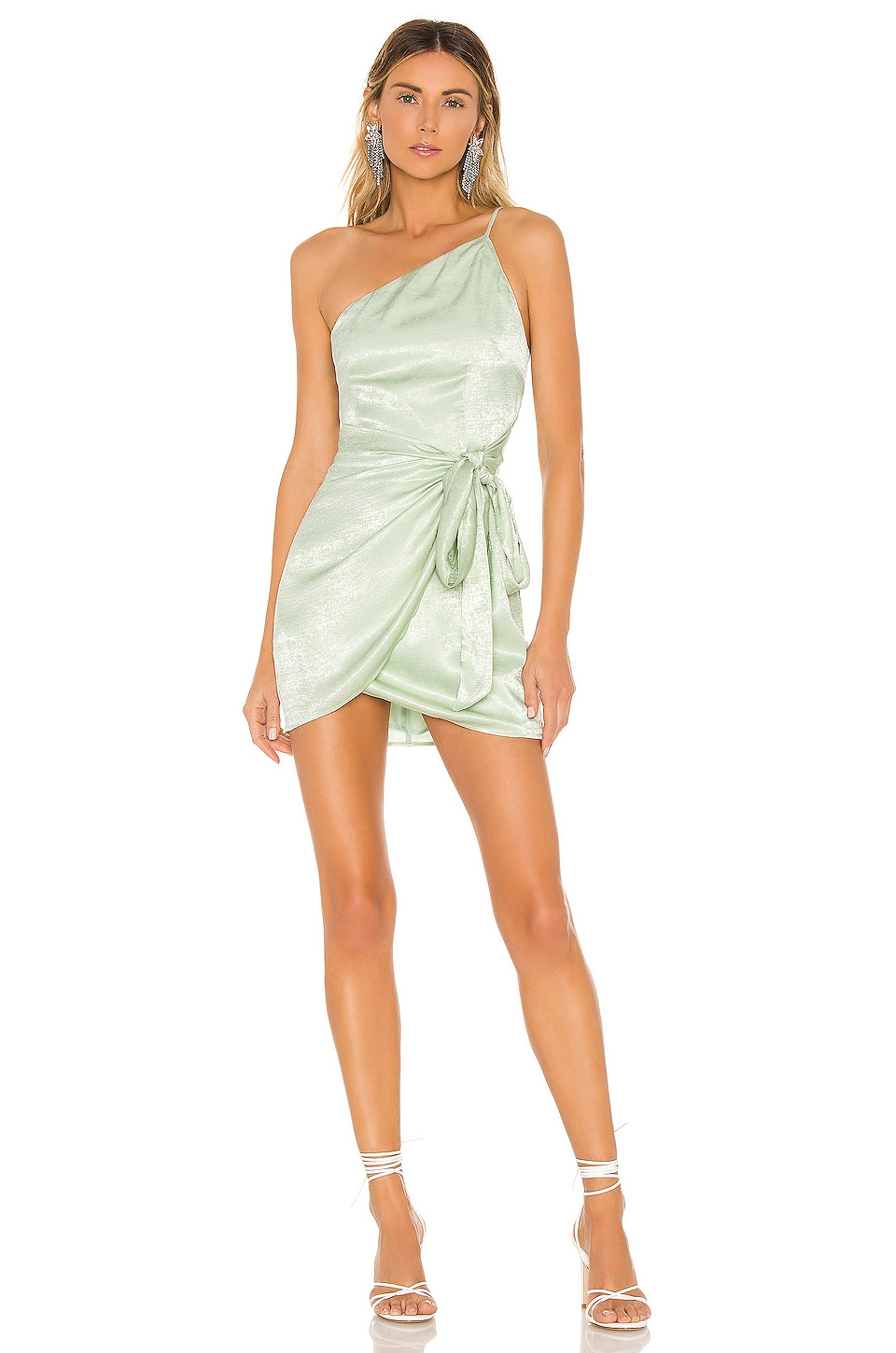 Lovers + Friends Karen Mini Dress in Mint Green