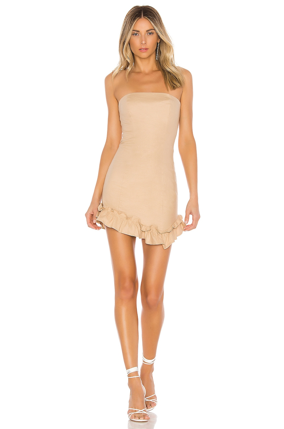 Lovers + Friends Curtis Mini Dress in Natural