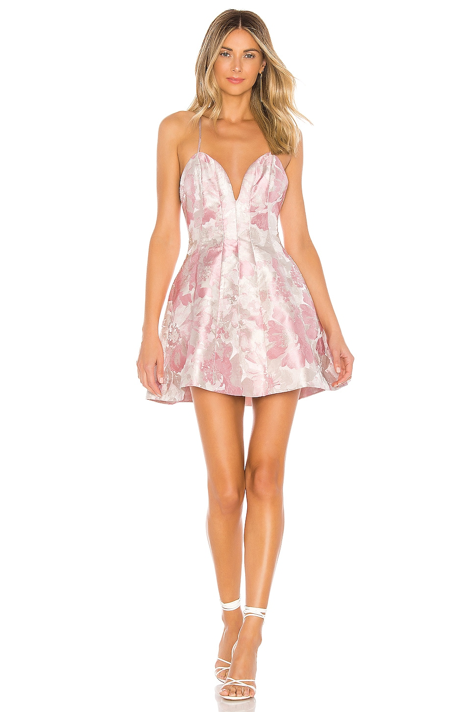 Lovers + Friends Aragus Mini Dress in Pink Tonal