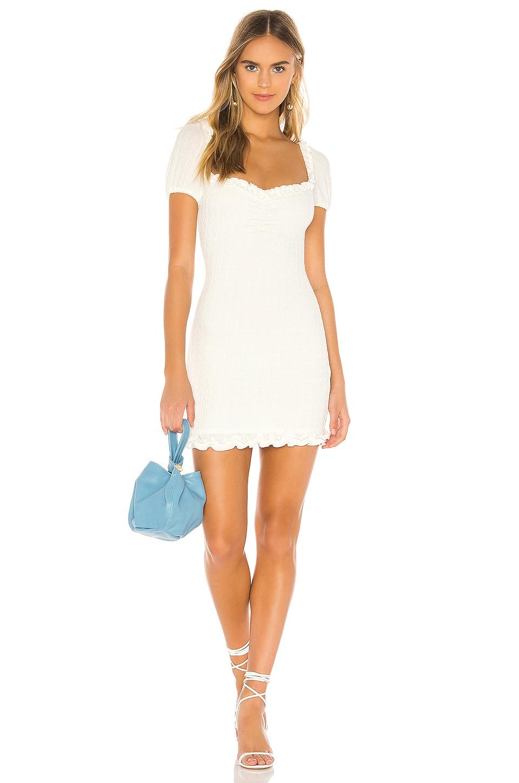 Lovers + Friends Gloria Mini Dress in White