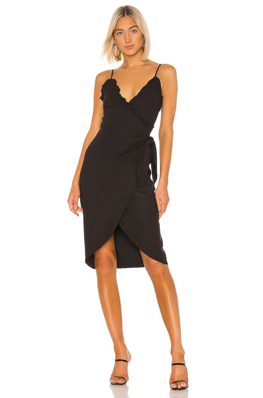Lovers + Friends Ava Midi Dress in Black