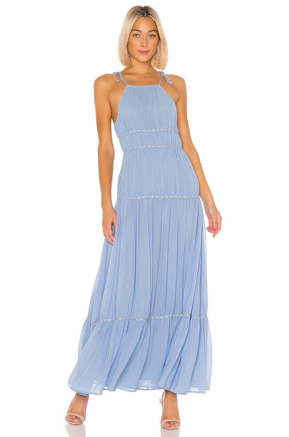 Lovers + Friends Lucy Maxi Dress in Powder Blue
