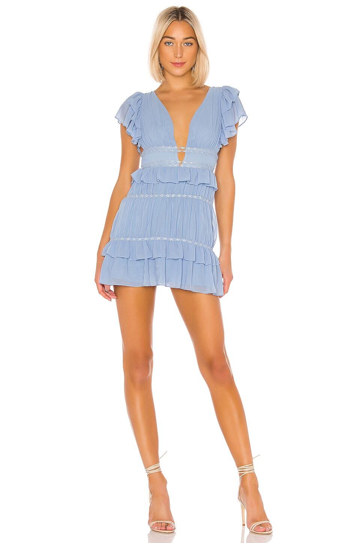 Lovers + Friends Joyce Mini Dress in Powder Blue