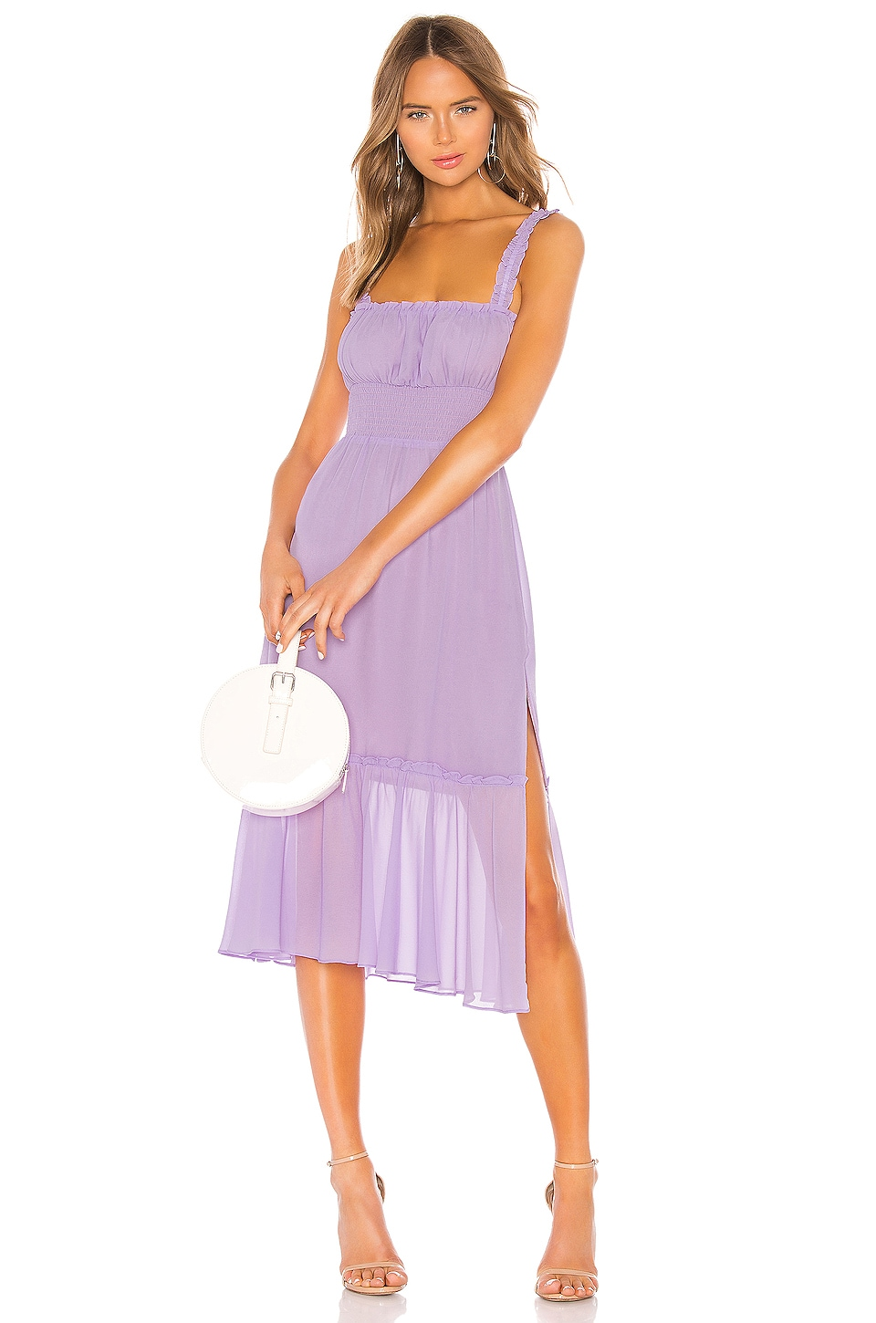 Lovers + Friends Arden Midi Dress in Lilac Purple