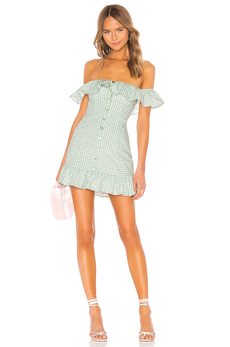 Lovers + Friends Lilith Mini Dress in Sage Green