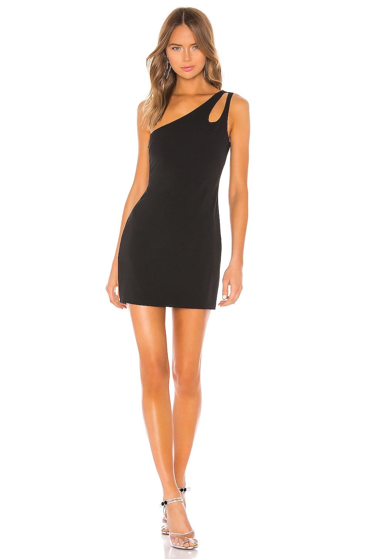 Lovers + Friends Racer Mini Dress in Black