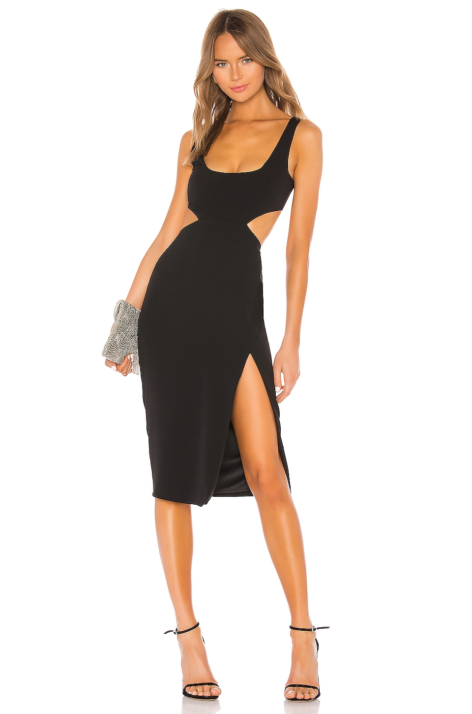 Lovers + Friends Titus Midi Dress in Black