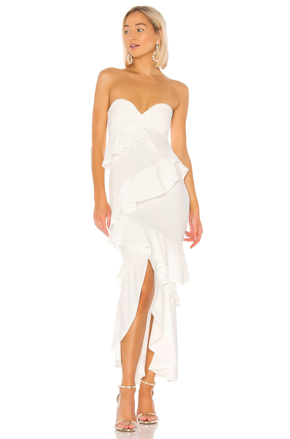 Lovers + Friends This Is It Gown in Ivory