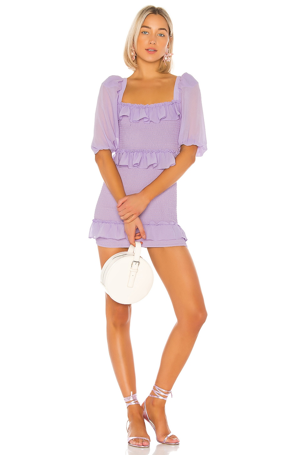Lovers + Friends Koda Mini Dress in Lilac Purple