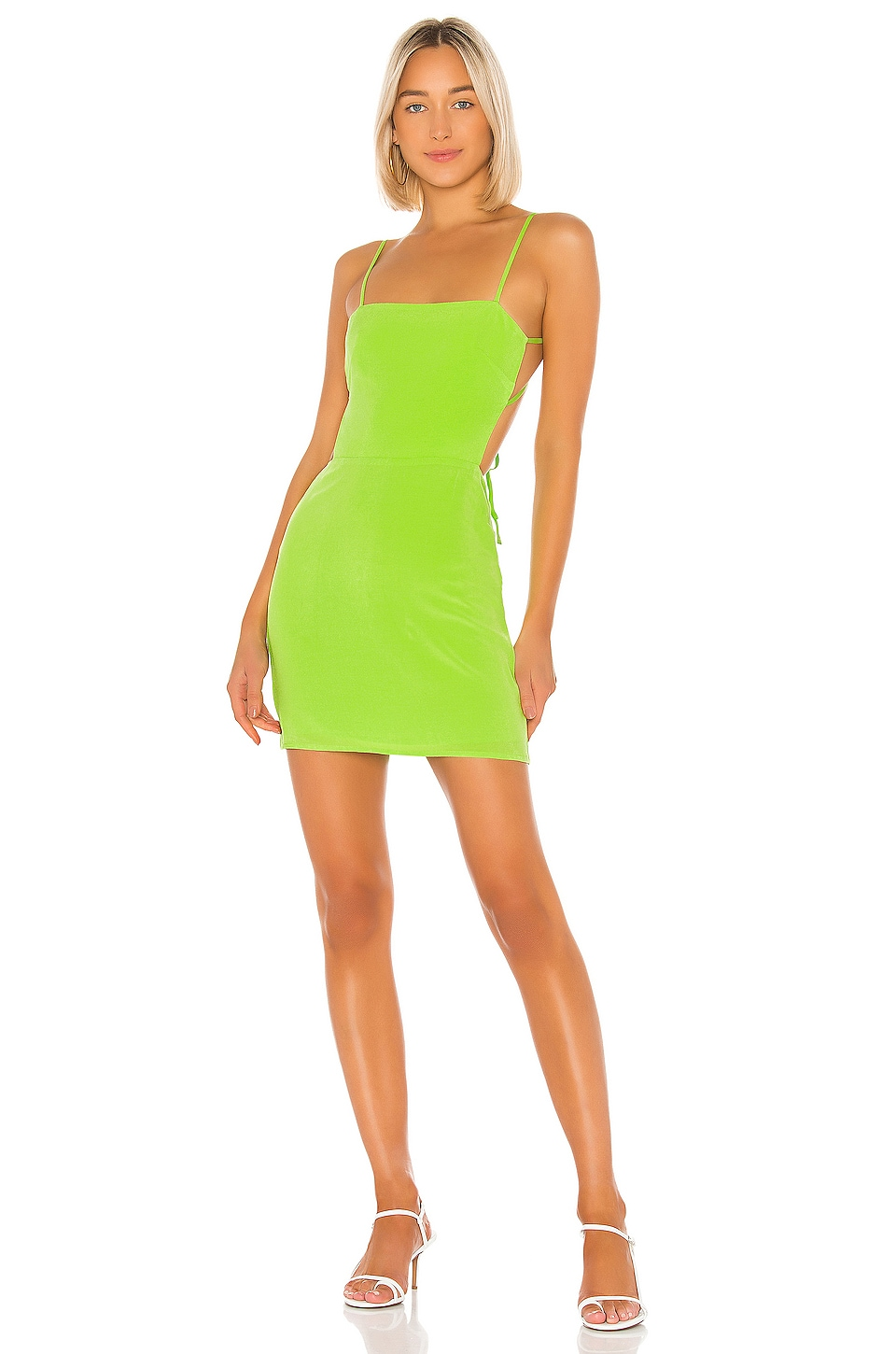 Lovers + Friends Blade Mini Dress in Lime Green