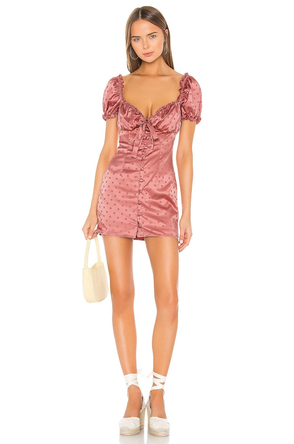 Lovers + Friends Porter Mini Dress in Deep Rose