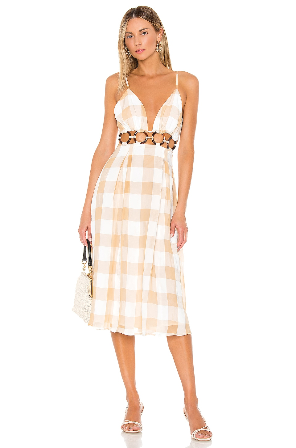 Lovers + Friends Albany Midi Dress in Tuscan Yellow